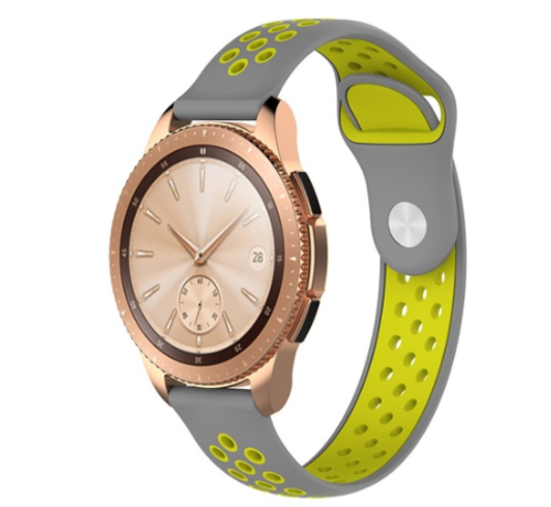 Strap-it® Strap-it® Samsung Galaxy Watch sport band 41mm / 42mm (grijs/geel)