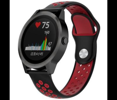 Strap-it® Strap-it® Garmin Vivoactive 3 sport band (zwart rood)