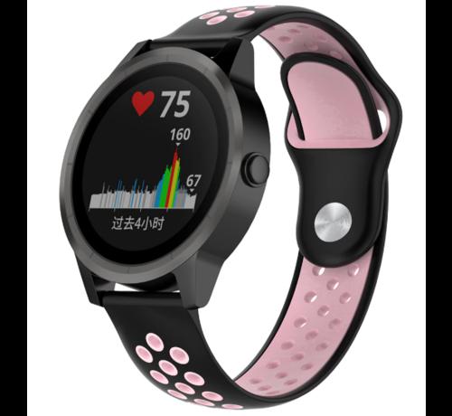 Strap-it® Strap-it® Garmin Vivoactive 3 sport band (zwart roze)