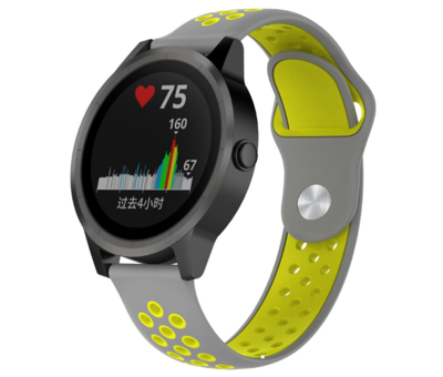 Strap-it® Strap-it® Garmin Vivoactive 3 sport band (grijs geel)