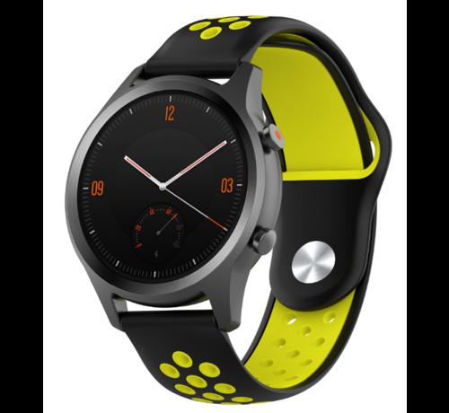 Strap-it® Strap-it® Garmin Vivomove HR sport band (zwart/geel)