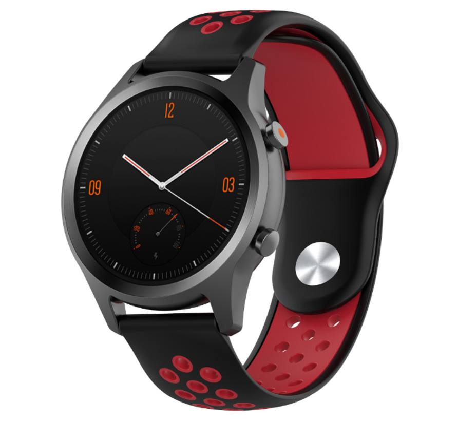 Strap-it® Garmin Vivomove HR sport band (zwart/rood)