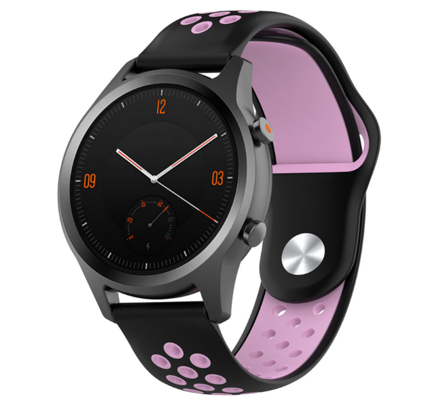 Strap-it® Garmin Vivomove HR sport band (zwart/roze)