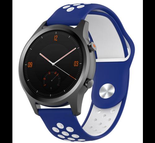 Strap-it® Strap-it® Garmin Vivomove HR sport band (blauw/wit)