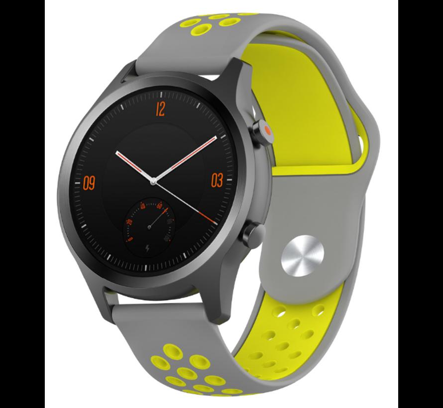Strap-it® Garmin Vivomove HR sport band (grijs/geel)