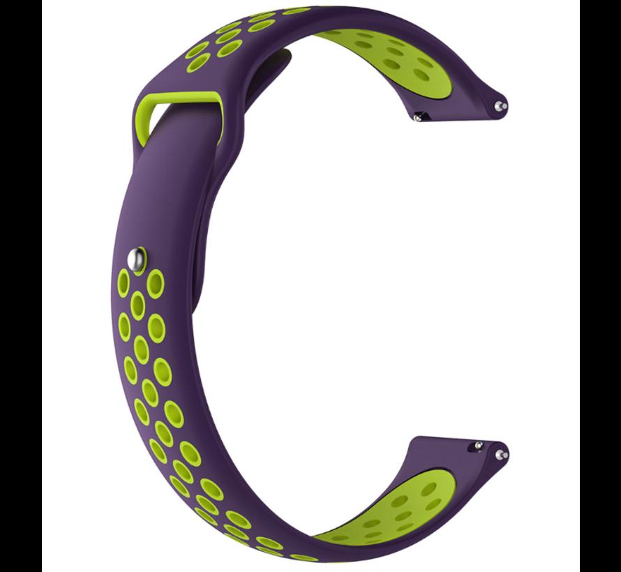 Strap-it® Garmin Vivomove HR sport band (paars/geel)