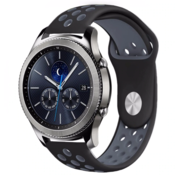 Strap-it® Samsung Gear S3 sport band (zwart/grijs)