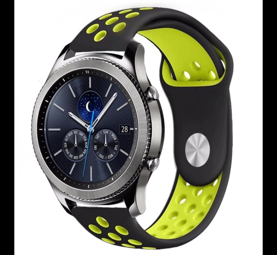 Strap-it® Samsung Gear S3 sport band (zwart/geel)