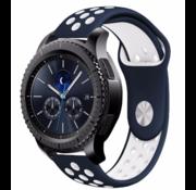 Samsung Gear S3 sport band (blauw/wit)