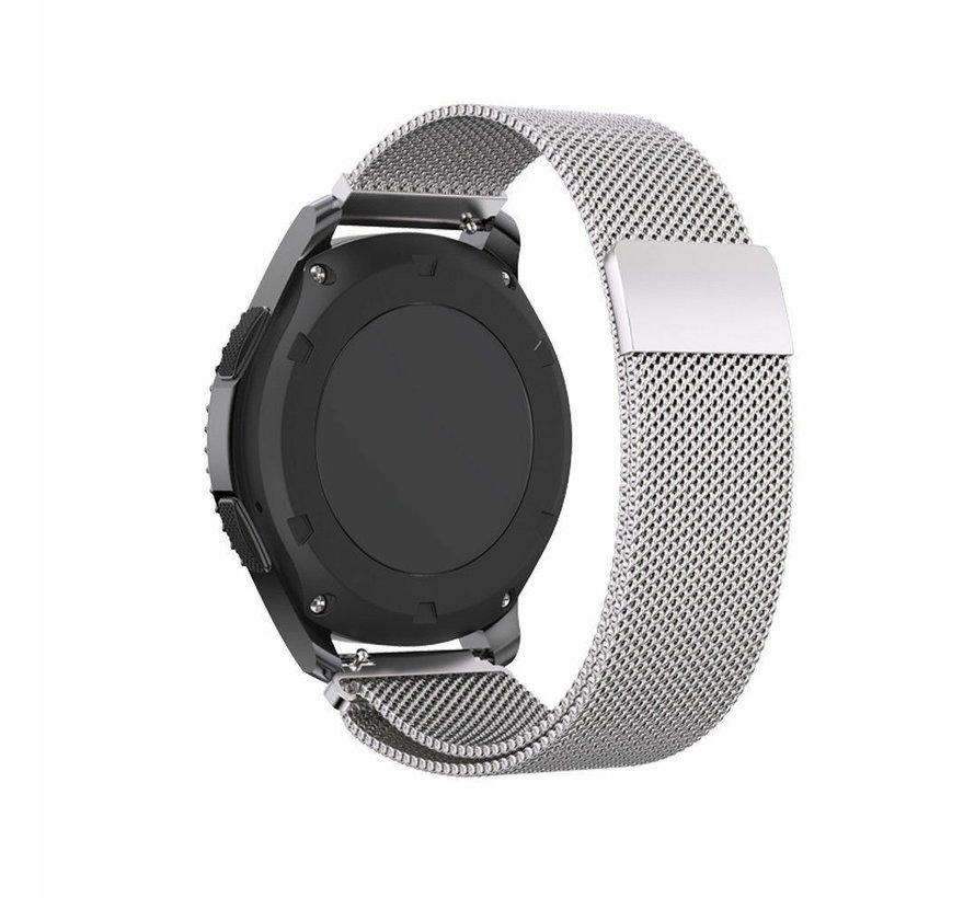Strap-it® Samsung Gear S3 Milanese band (zilver)