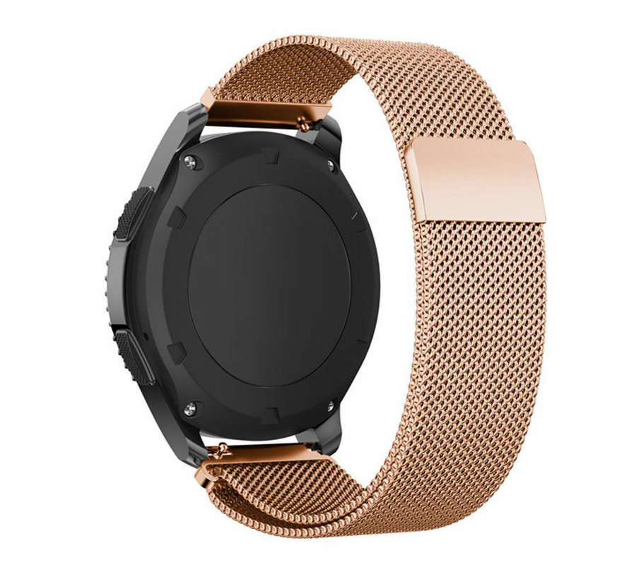 Strap-it® Samsung Gear S3 Milanese band (rosé goud)