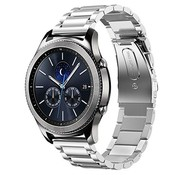 Strap-it® Samsung Gear S3 stalen band (zilver)