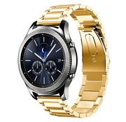Strap-it® Samsung Gear S3 stalen band (goud)