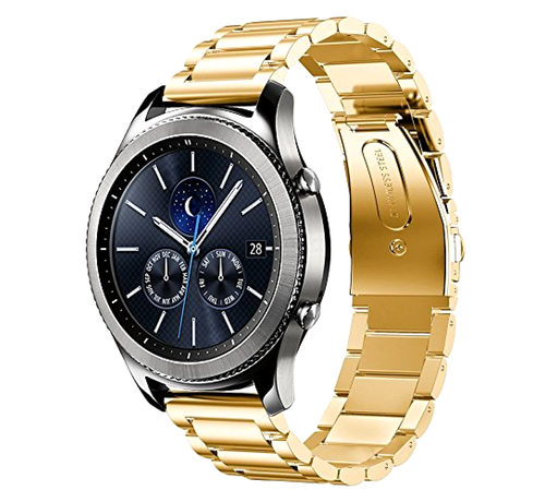 Strap-it® Strap-it® Samsung Gear S3 stalen band (goud)