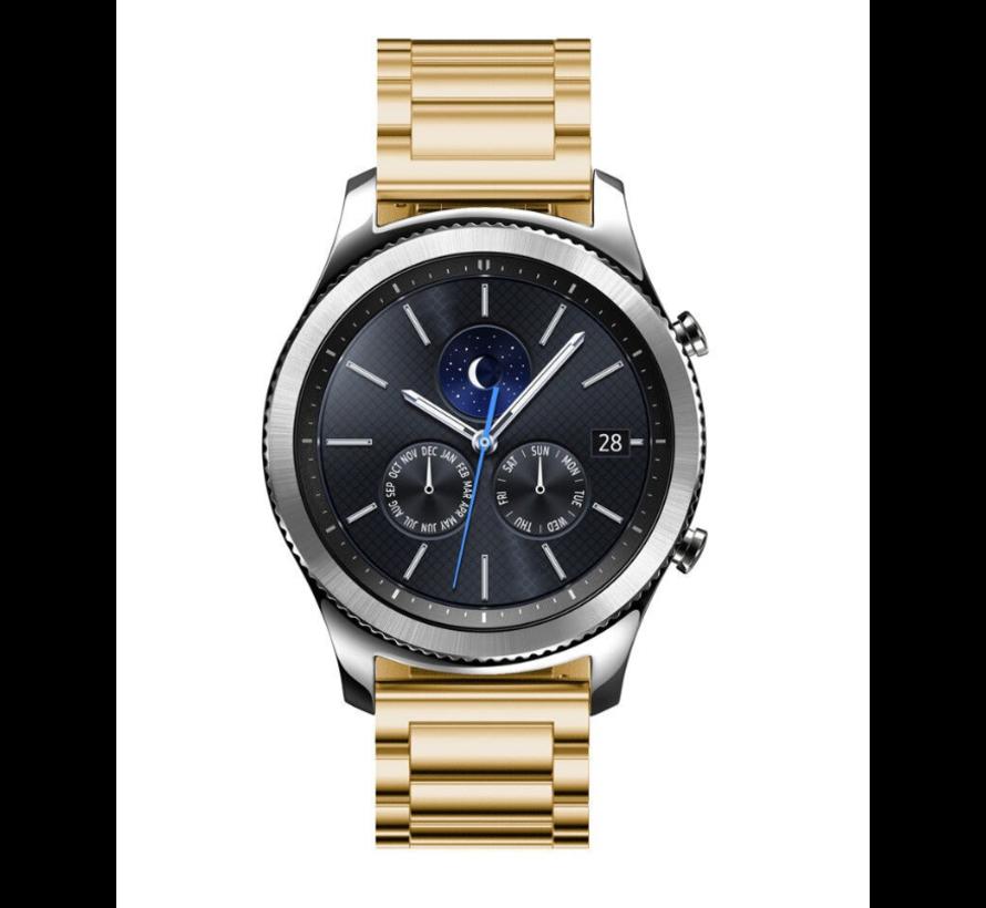 Strap-it® Samsung Gear S3 stalen band (goud)