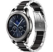 Strap-it® Samsung Gear S3 stalen band (zilver/zwart)