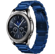Strap-it® Samsung Gear S3 stalen band (blauw)