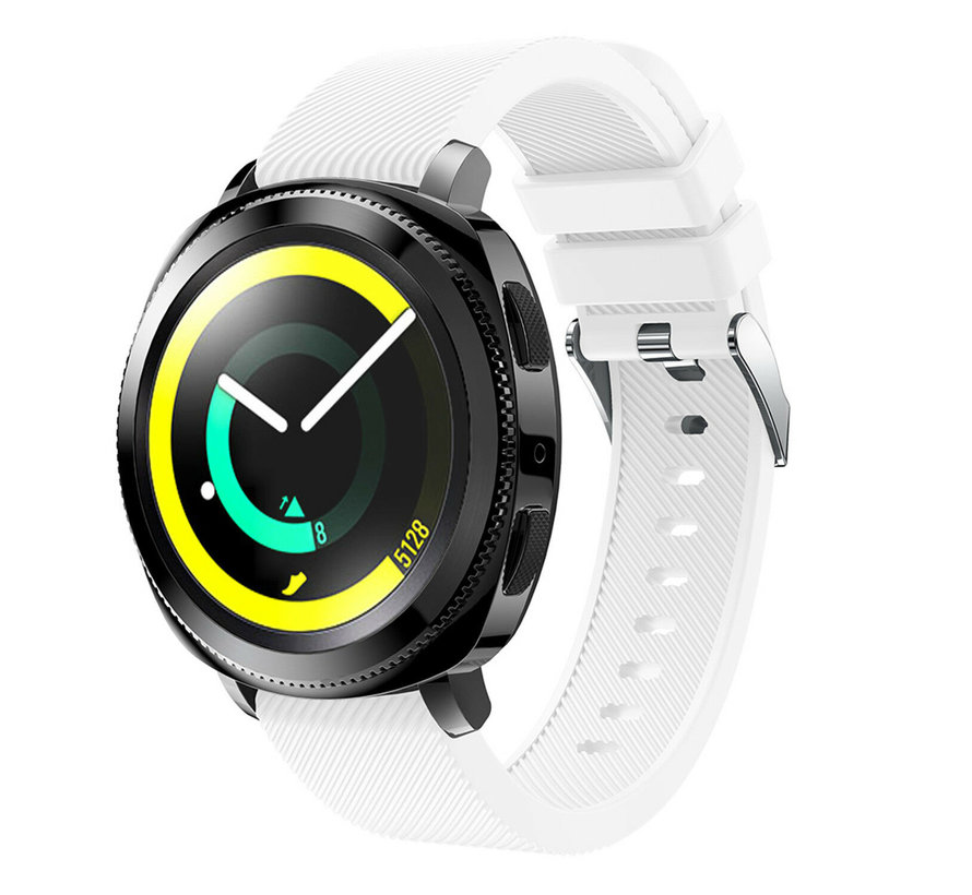 Strap-it® Samsung Gear Sport silicone band (wit)