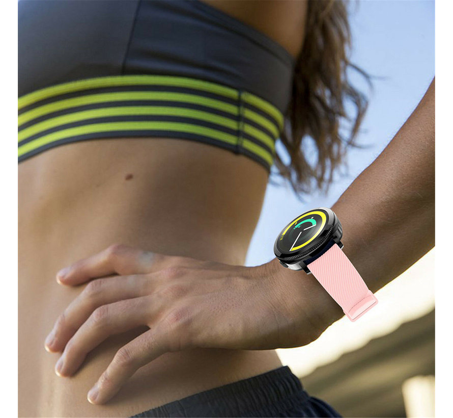 Strap-it® Samsung Gear Sport silicone band (roze)
