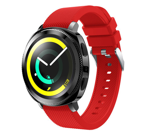 Strap-it® Strap-it® Samsung Gear Sport silicone band (rood)