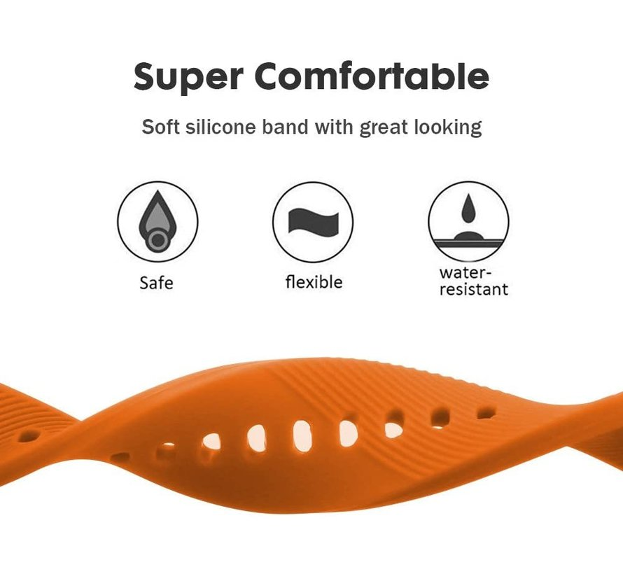 Strap-it® Samsung Gear Sport silicone band (oranje)
