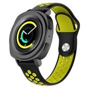 Strap-it® Samsung Gear Sport sport band (zwart/geel)