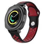 Samsung Gear Sport sport band (zwart/rood)