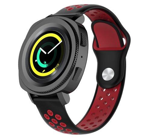 Strap-it® Strap-it® Samsung Gear Sport sport band (zwart/rood)