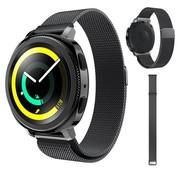 Strap-it® Samsung Gear Sport Milanese band (zwart)