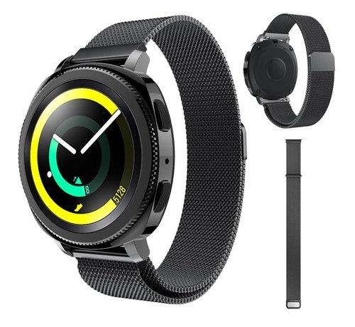 Strap-it® Strap-it® Samsung Gear Sport Milanese band (zwart)