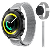 Strap-it® Samsung Gear Sport Milanese band (zilver)