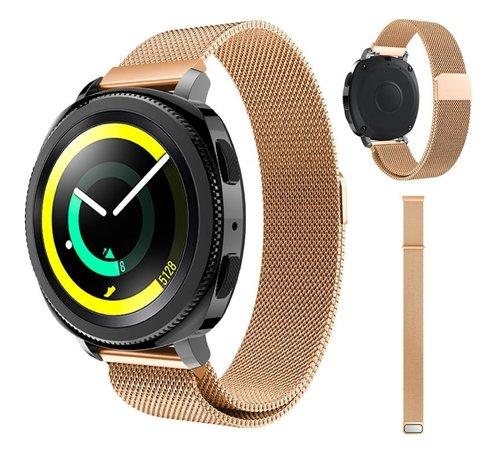 Strap-it® Strap-it® Samsung Gear Sport Milanese band (rosé goud)