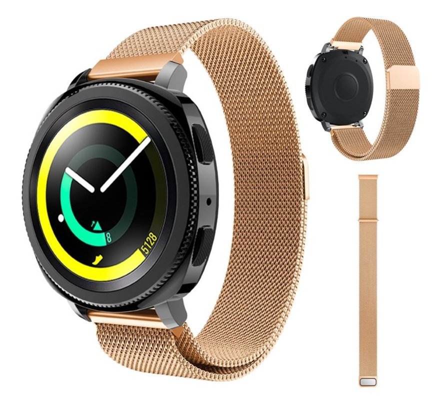 Strap-it® Samsung Gear Sport Milanese band (rosé goud)