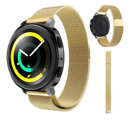 Strap-it® Strap-it® Samsung Gear Sport Milanese band (goud)