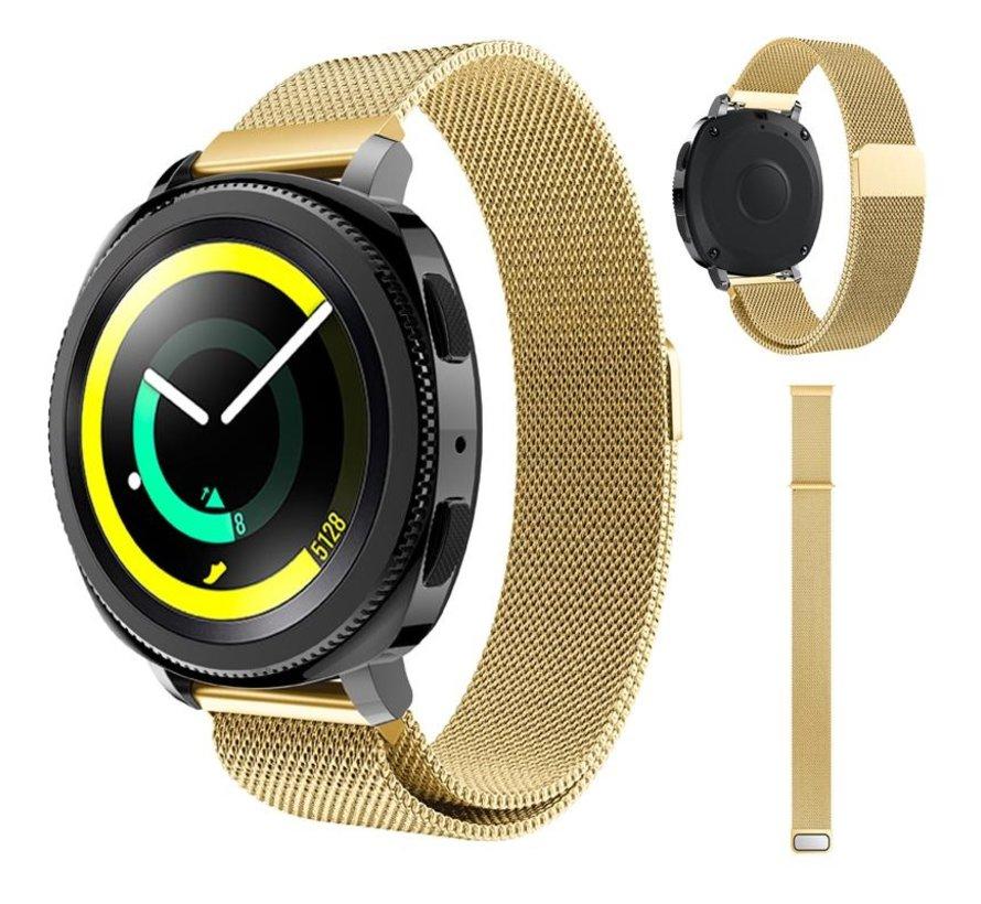 Strap-it® Samsung Gear Sport Milanese band (goud)