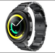 Strap-it® Samsung Gear Sport stalen band (zwart)