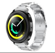 Strap-it® Samsung Gear Sport stalen band (zilver)