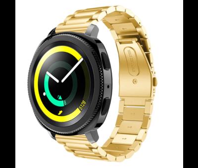 Strap-it® Strap-it® Samsung Gear Sport stalen band (goud)