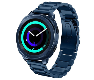Strap-it® Strap-it® Samsung Gear Sport stalen band (blauw)