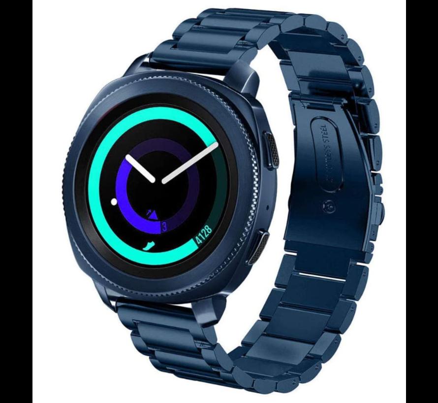 Strap-it® Samsung Gear Sport stalen band (blauw)