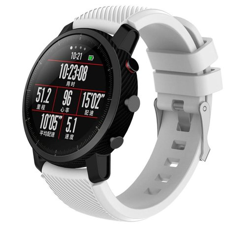 Strap-it® Strap-it® Xiaomi Amazfit Pace silicone band (wit)