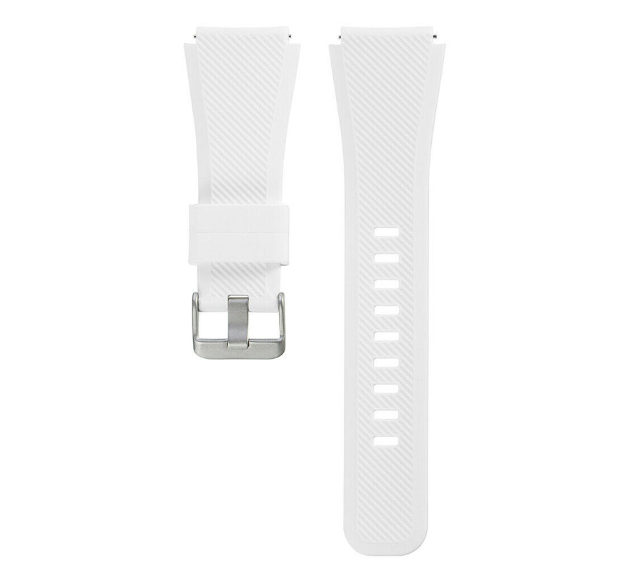 Strap-it® Xiaomi Amazfit Pace silicone band (wit)