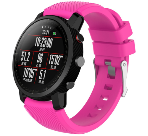 Strap-it® Strap-it® Xiaomi Amazfit Pace silicone band (knalroze)