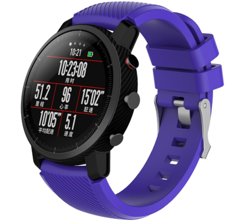 Strap-it® Strap-it® Xiaomi Amazfit Pace silicone band (paars)