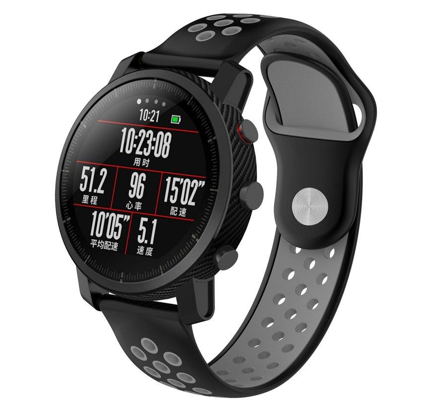 Strap-it® Xiaomi Amazfit Pace sport band (zwart/grijs)