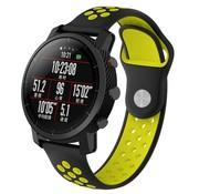 Strap-it® Xiaomi Amazfit Pace sport band (zwart/geel)