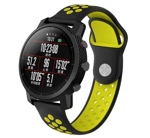 Strap-it® Strap-it® Xiaomi Amazfit Pace sport band (zwart/geel)