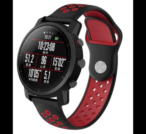 Strap-it® Strap-it® Xiaomi Amazfit Pace sport band (zwart/rood)
