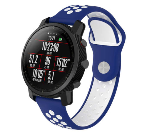 Strap-it® Strap-it® Xiaomi Amazfit Pace sport band (blauw/wit)