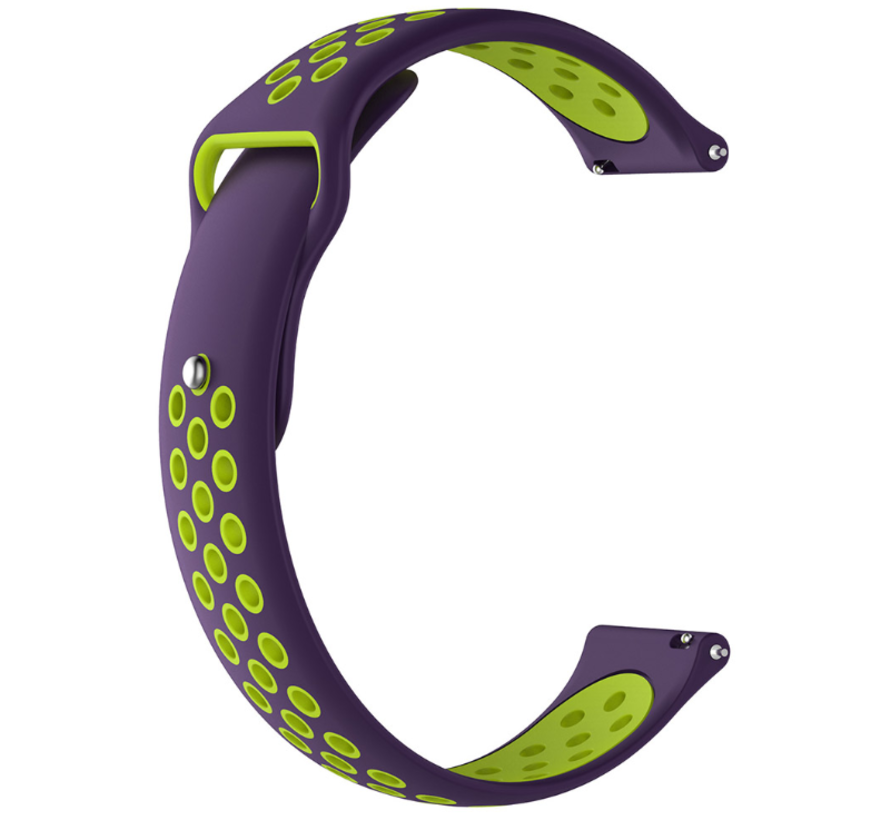 Strap-it® Xiaomi Amazfit Pace sport band (paars/geel)